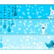 Vector set of banner for easter day — Stock vektor
