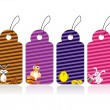Set of easter day tags — Imagen vectorial