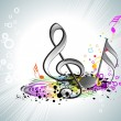 Colorful musical notes with background — Imagens vectoriais em stock