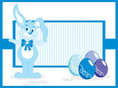 Background with bunny, easter eggs — Stock Vector