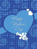 母の日のお祝いのグリーティング カード — ストックベクタ