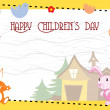 Vector for happy children's day celebration — Stockvektor