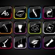Background with set of icons — 图库矢量图片 #5395257