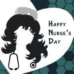 Happy nurse's day background — Stock Vector #5395695