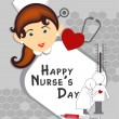 Happy nurse's day background — Stok Vektör