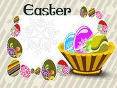 Illustration for easter day celebration — Stock Vector