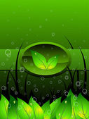 Vector illustration for go green — Stock Vector