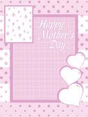 Tarjeta de felicitación de celebración de día de madre — Vector de stock