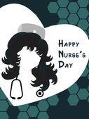 Happy nurse's day background — Stockvektor