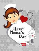 Happy nurse's day background — Stock Vector