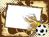 燃えるようなフットボールの汚れたスポーツ背景 — ストックベクタ