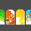 Vector sat of easter sale tag — Stock Vector