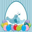Stock Vector: Abstract easter concept background