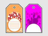 Set of decorated colorful easter eale tag — Stock Vector