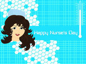 Vector for happy nurse's day — Stock Vector