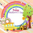 Illustration for children's day — Stock Vector