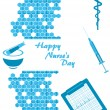 Vector for happy nurse's day - Stockvectorbeeld