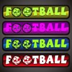 vector set van vier voetbal sport header — Stockvector
