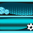 Vector set of two soccer sport header — Stock Vector