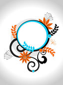 Vector isolated floral decorated frame — Cтоковый вектор
