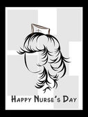 Illustration for happy nurse's day — Stock Vector