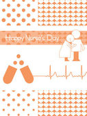 Illustration for happy nurse's day — Wektor stockowy