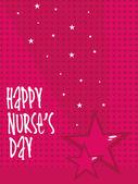 Illustration for happy nurse's day — Vector de stock