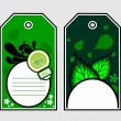 Vector set of two ecology tags — Stockvektor