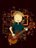 Abstraktní pojem hudební pozadí — Stock vektor