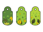 Vector set of two ecology tags — 图库矢量图片