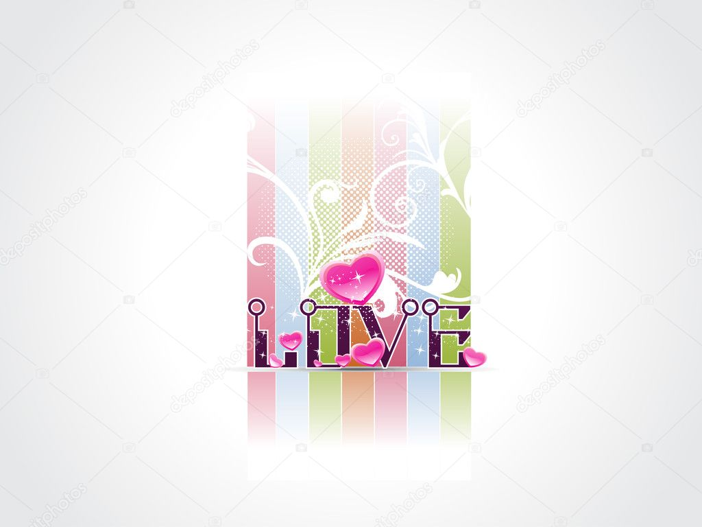 Vector illustration of love concept background — Stock vektor #5484256