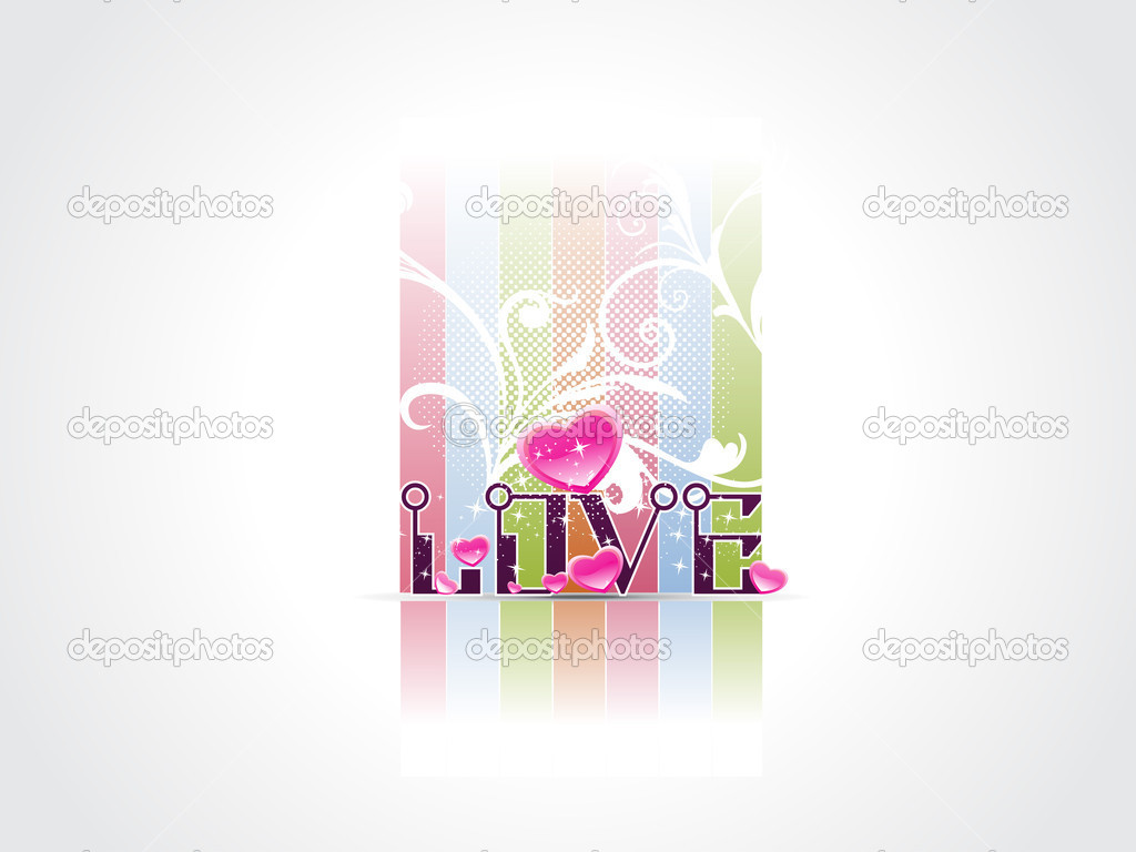Vector illustration of love concept background  Grafika wektorowa #5484256