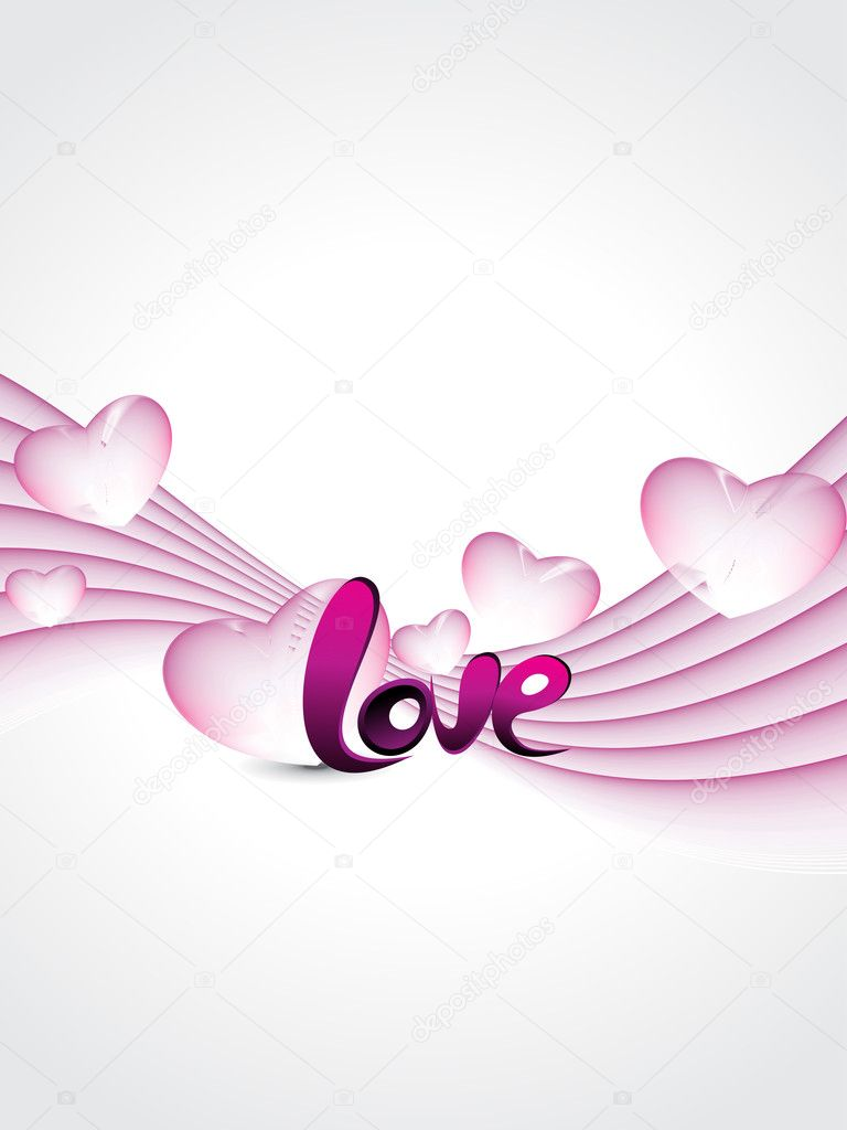 Abstract stripes background with pink macro hearts — 图库矢量图片 #5484262