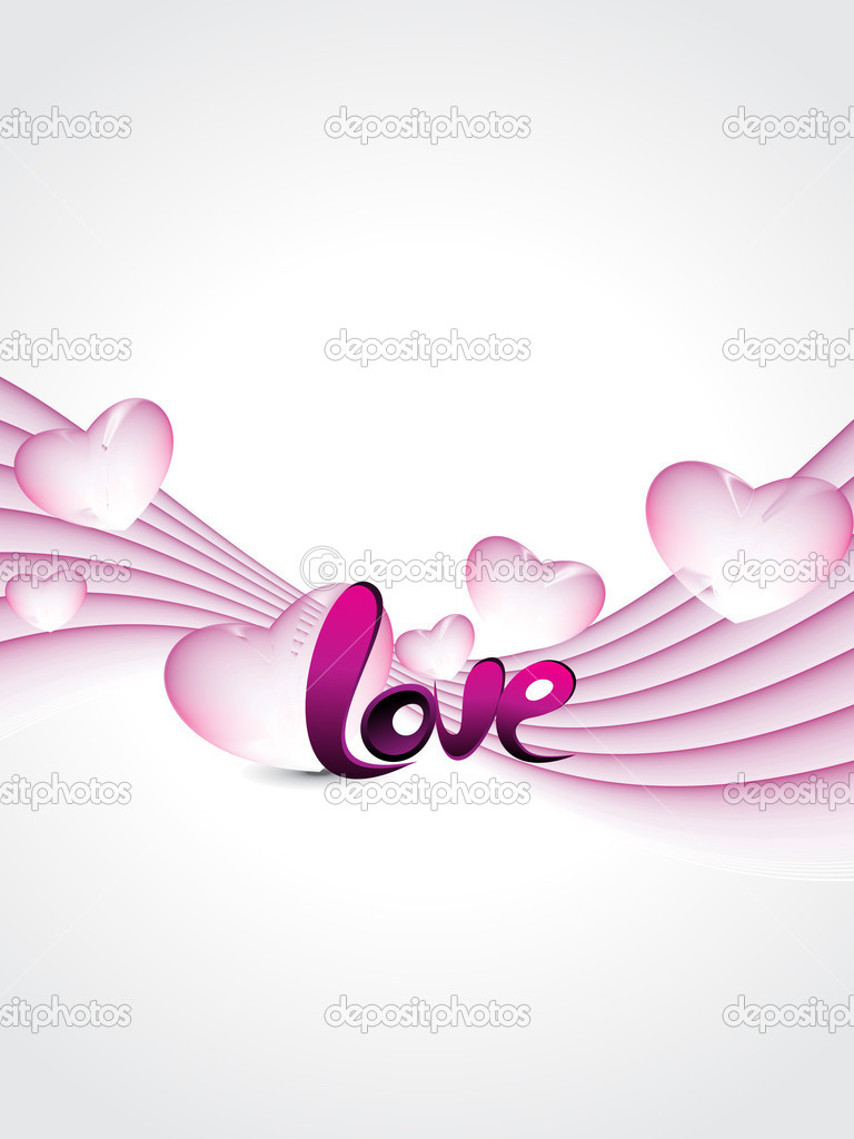 Abstract stripes background with pink macro hearts  Image vectorielle #5484262