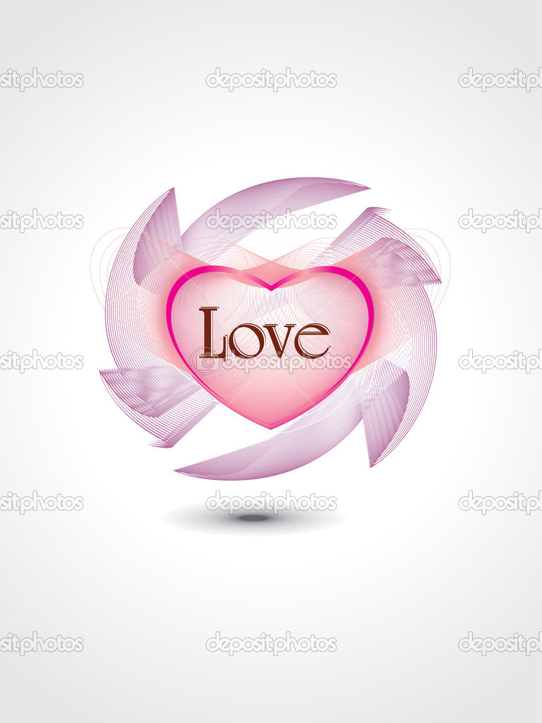 Abstract romantic love concept background, vector illustration — Vettoriali Stock  #5484275