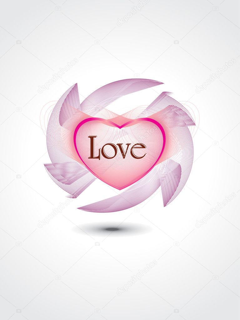 Abstract romantic love concept background, vector illustration — Imagen vectorial #5484275