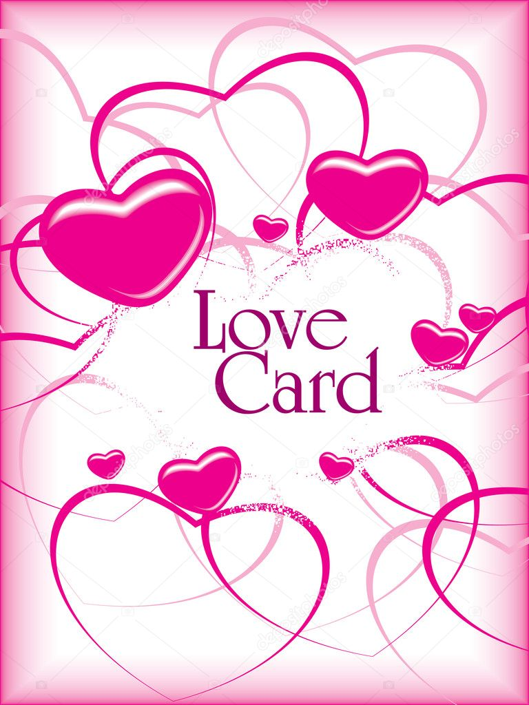 Romantic greeting card, vector illustration — Stok Vektör #5484280