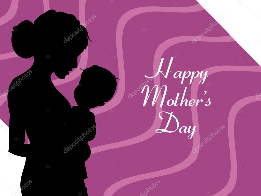 Vector illustration of happy mother's day wallpaper — Stock Vector #5521024