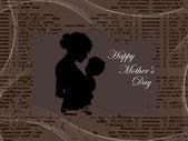 Ilustración para el día de madre feliz — Vector de stock