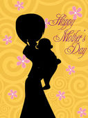 Illustration for happy mother's day — Stockvector