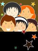 Vector wallpaper for children's day — Stock Vector