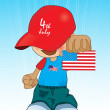 Royalty-Free Stock Imagem Vetorial: Illustration for happy 4th july celebration