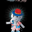 Royalty-Free Stock Imagen vectorial: Illustration for happy 4th july celebration