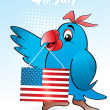 Stockvector : Illustration for happy 4th july celebration