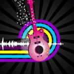 concepto abstracto de la música de fondo — Vector de stock