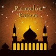 Vector illustration for Ramadan Kareem celebration. — Imagen vectorial