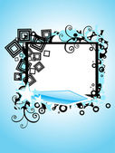 Background with creative artwork decorated frame — Stock Vector