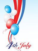 Illustration for happy 4th july celebration — Stock Vector