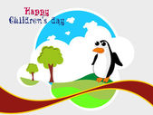 Illustration for happy children's day celebration — Stock Vector
