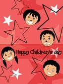 Illustration for happy children's day celebration — Stockvektor